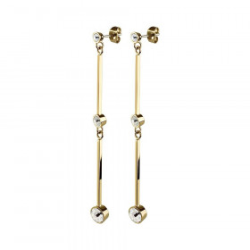 Delores øreringe i guld med Swarovski sten fra Dyrberg/Kern