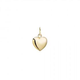 Hjerte vedhæng i 14kt guld fra Lund Copenhagen (10 x 12 mm)
