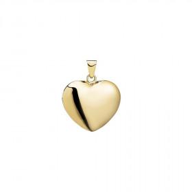 Hjerte vedhæng i 14kt guld fra Lund Copenhagen (14 x 17 mm)