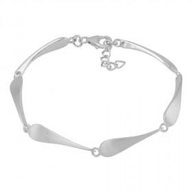 Sølv rhodineret armbånd 18cm fra Nordahl Andersen