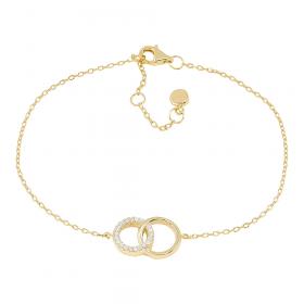 Armbånd i guld med zirkoner fra Joanli Nor