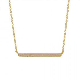 Halskæde i guld med zirkoner fra Joanli Nor