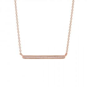 Halskæde i rosa guld med zirkoner fra Joanli Nor