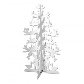 H.C. Andersen grantræ mellem 15cm i messing forsølvet fra Nordahl Andersen