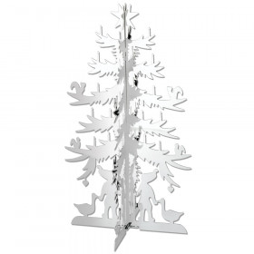 H.C. Andersen grantræ stort 20 cm høj i messing forsølvet fra Nordahl Andersen