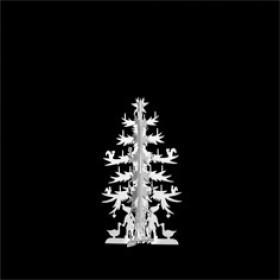 H.C. Andersen grantræ lille 11cm i messing forsølvet fra Nordahl Andersen