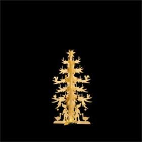 H.C. Andersen grantræ lille 11cm i messing forgyldt fra Nordahl Andersen