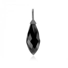 Smuk Izabel Camille  sølv sort rhodineret vedhæng med en sort zirkon.