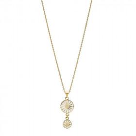 Marguerit halskæde i sølv forgyldt fra Lund Copenhagen