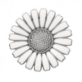 Marguerit broche i sølv rhodineret fra Lund Copenhagen