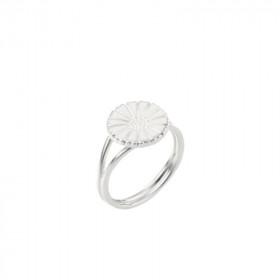 Marguerit ring i sølv (11mm) med hvid emalje fra Lund Copenhagen