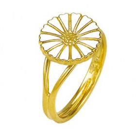 Marguerit ring i sølv forgyldt fra Lund Copenhagen