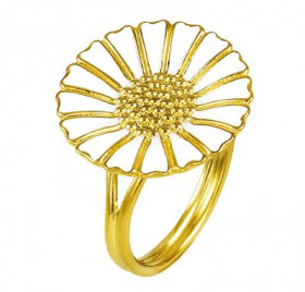 Marguerit ring i guld (18mm) fra Lund Copenhagen