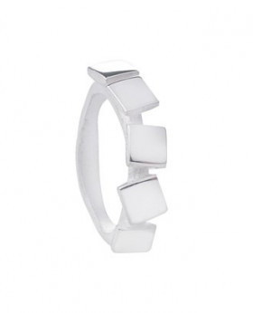 Square ring i sølv fra Von Lotzbeck