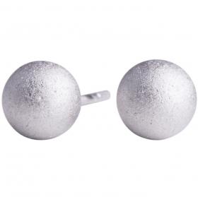 Mat sølv kugle ørestik 6mm fra Nordahl Andersen.