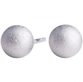 Mat sølv kugle ørestik 7mm fra Nordahl Andersen.