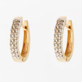 Creol i 14kt guld med diamanter fra Lund Copenhagen