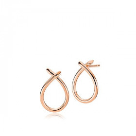 Everyday small øreringe i blankt rosa guld fra Izabel Camille