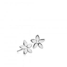 Magnolia ørestikker i sølv fra Izabel Camille.