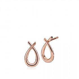 Attitude small øreringe i rosa guld fra Izabel Camille