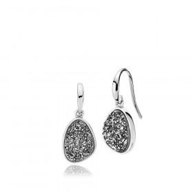 Mystery øreringe i sølv med druzy stone fra Izabel Camille.