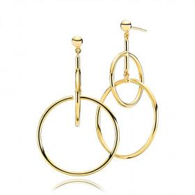 Metropol kreol øreringe i guld fra Izabel Camille.