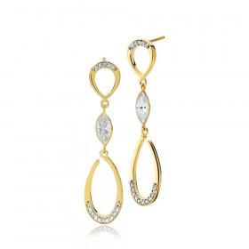 Significant øreringe i guld med zirkoner fra Izabel Camille.