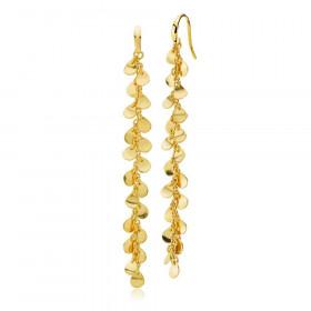 Lange Robinia øreringe i guld fra Izabel Camille.