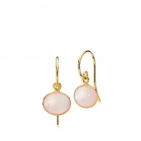 Candy øreringe i guld med pink calcedon fra Izabel Camille.