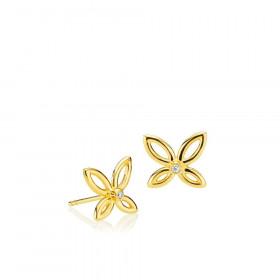 Blossom ørestikker i guld  fra Izabel Camille.