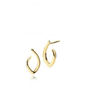 Edgy øreringe (små) i guld fra Izabel Camille.