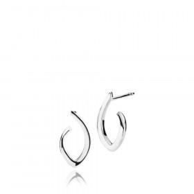 Edgy øreringe (små) i sølv fra Izabel Camille.