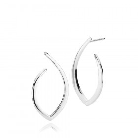 Edgy øreringe (store) i sølv fra Izabel Camille.