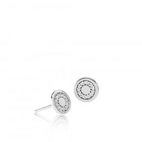 Circle line ørestikker i sølv med zirkoner fra Izabel Camille