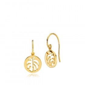 Shades øreringe i guld fra Izabel Camille