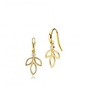 Blossom øreringe i guld fra Izabel Camille.
