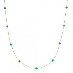 Prima Donna halskæde i guld med grøn onyx fra Izabel Camille