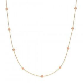 Prima Donna halskæde i guld med peach månesten fra Izabel Camille.