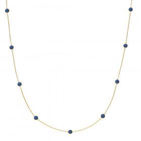 Prima Donna halskæde i guld med kongeblå kvarts fra Izabel Camille