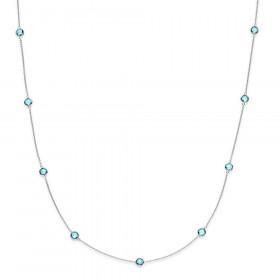Prima Donna halskæde i sølv med kvarts fra Izabel Camille.