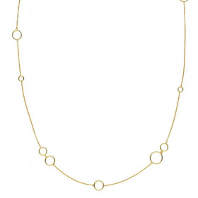 Metropol halskæde med ringe i guld fra Izabel Camille.