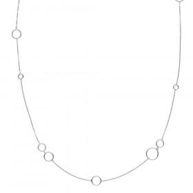 Metropol halskæde med ringe i sølv fra Izabel Camille.