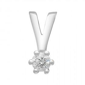 Vedhæng i 14kt hvidguld med en diamant fra Siersbøl