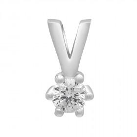 Vedhæng i 14kt hvidguld med en diamant (0.15) fra Siersbøl