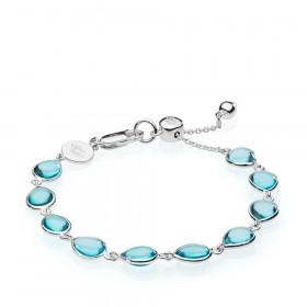 Annabella armbånd i sølv med blå kvarts fra Izabel Camille.
