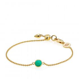 Prima Donna armbånd i guld med en grøn onyx fra Izabel Camille