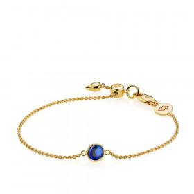 Prima Donna armbånd i guld med kongeblå kvarts fra Izabel Camille