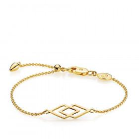 DNA armbånd i guld fra Izabel Camille.