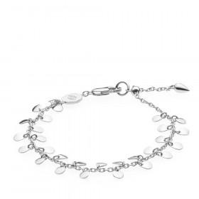 Robinia armbånd i sølv med et bladvedhæng fra Izabel Camille.