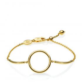 Metropol armbånd i guld med en cirkel fra Izabel Camille.